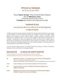 Programme des fêtes de la Tarasque - Avignon et Provence
