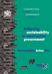 Sustainability in Construction Procurement - Constructing Excellence