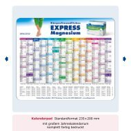 Kalenderpad Standardformat 235x200 mm mit großem ...