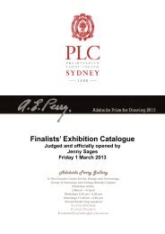Adelaide Perry Prize for Drawing 2013 Finalists - Presbyterian ...
