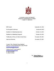 table of contents - Alabama A&M University