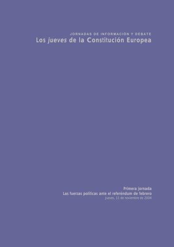 Los jueves de la Constitución Europea - Fundación Carlos de ...