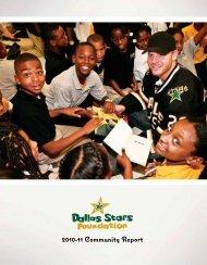 2010-11 Community Report (.pdf) - Dallas Stars - NHL.com