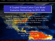 A Coupled Climate-Carbon Cycle Model Evaluation Methodology for ...