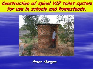 Construction of spiral VIP toilet system for use in ... - EcoSanRes