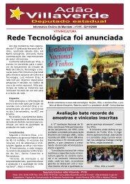 Rede Tecnológica foi anunciada - Deputado Estadual Adão ...