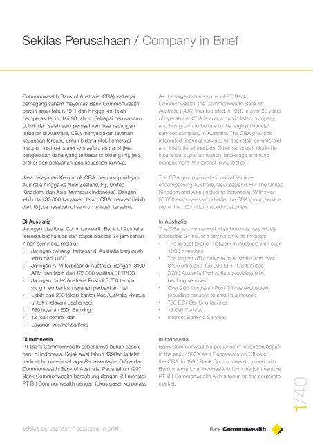 Annual Report 2004 - Commonwealth Bank
