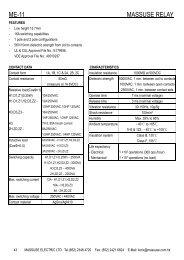 MASSUSE ME-11-012-2Z4 Catalogue