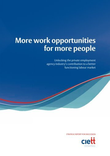 More work opportunities for more people - Ciett