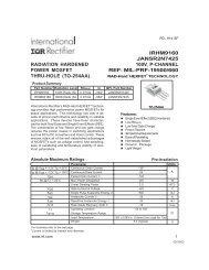 irhm9160 jansr2n7425 radiation hardened 100v, p-channel power ...
