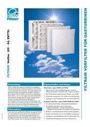 Produktinformation - Grobe Vorfilter - Filtrair BV