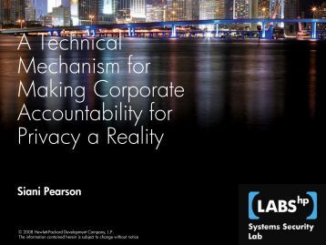 A Technical Mechanism for Making Corporate ... - PrivacyOS