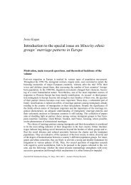 Introduction to the special issue on Minority ethnic groups' marriage ...