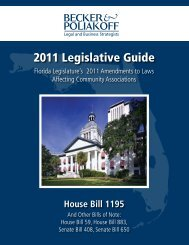 2011 Legislative Guide - Community Association Leadership Lobby