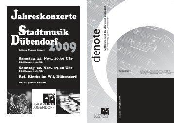 2/2009 (Nr. 54) (2.12 MB, pdf) - Stadtmusik Dübendorf