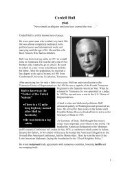 Cordell Hull - The Nobel Peace Laureate Project