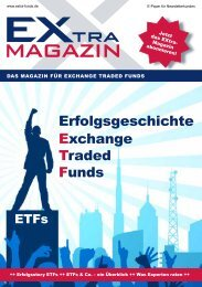 Erfolgsgeschichte Exchange Traded funds - EXtra-Magazin