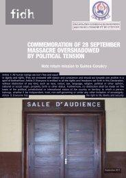 COMMEMORATION OF 28 SEPTEMBER MASSACRE ... - FIDH