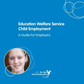 Education Welfare Service, Child Employment, A Guide For Employers