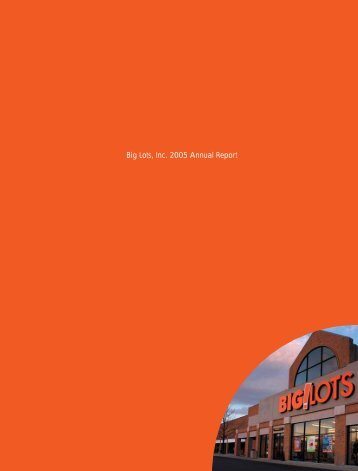Big Lots, Inc. 2005 Annual Report