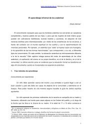 EL APRENDIZAJE INFORMAL DE LOS ARAKMBUT - Cholonautas