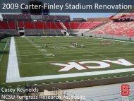 2009 Carter-Finley Stadium Renovation - TurfFiles