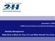 Mobility Management - California Alliance of Information & Referral ...