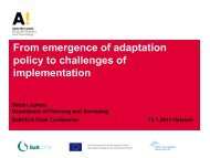 From emergence of adaptation policy to challenges of ... - BaltCICA