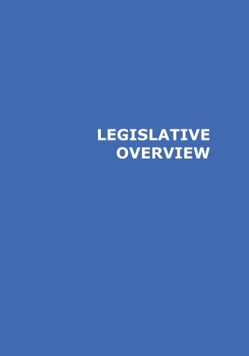 LEGISLATIVE OVERVIEW - Disability Monitor Initiative
