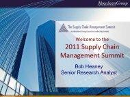 the 2011 Supply Chain - Summit - Aberdeen Group