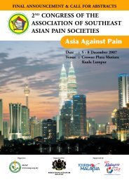 Event Information - The Pain Association of Singapore