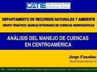 Análisis del Manejo de Cuencas en Centroamérica - Condesan