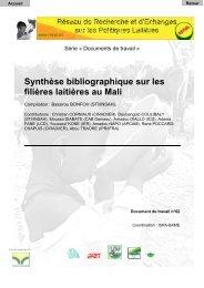Synthèse bibliographique sur les filières laitières au Mali - REPOL
