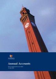 Year Ended 2001 - University of Birmingham