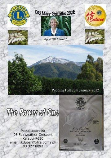 April 2012 - Lions Clubs New Zealand