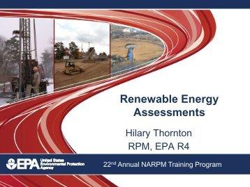 Renewable Energy Assessments