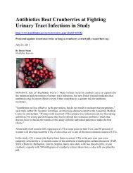 Antibiotics Beat Cranberries at Fighting Urinary Tract Infections in ...