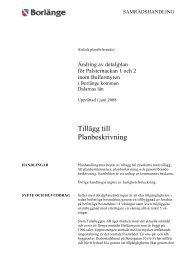 Tillägg till Planbeskrivning - Borlänge kommun