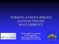 AVRUPA BİRLİĞİ PROJE YÖNETİMİ YAKLAŞIMI - Türkiye Sağlıklı ...