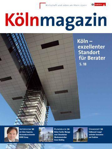 Kölnmagazin 2/2011 [ PDF , 6220 KB ] - Stadt Köln