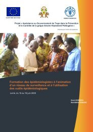 Rapport de formation des épidémiologistes - fao ectad bamako