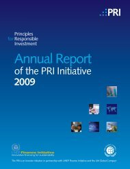 Annual Report | 2009 - Principles for Responsible Investment