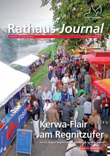 Rathaus Journal Nr. 17 vom 10.08.2012 - Stadt Bamberg