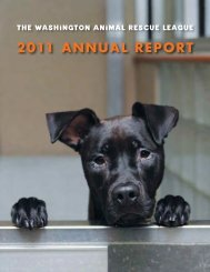 2011 ANNUAL REPORT - Washington Animal Rescue League