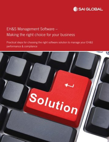 EH&S Management Software - Compliance - SAI Global