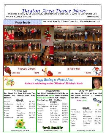 17 03 March #2 2013 Newsletter - Ballroom Dance Dayton