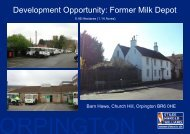 Development Opportunity: Former Milk Depot - Stiles Harold Williams