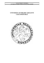 The University of Hradec Králové