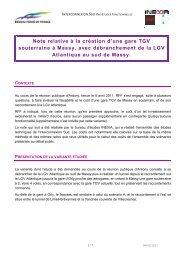 Note relative à la création d'une gare TGV souterraine à Massy ...