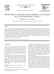 MCNP study for epithermal neutron irradiation of an isolated liver at ...